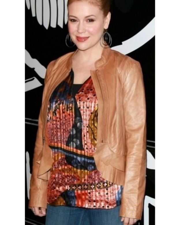 ALYSSA-MILANO-CHARMING-LEATHER-JACKET