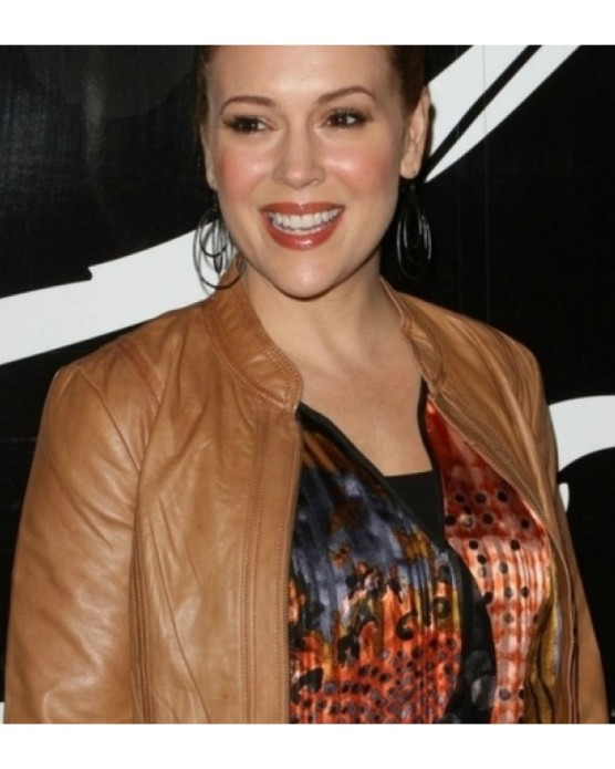 ALYSSA-MILANO-CHARMING-TAN-JACKET